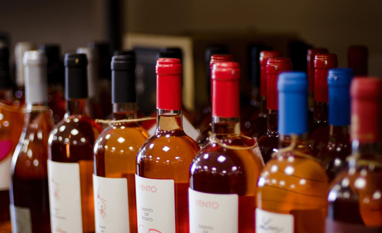 Bottiglie vino rosato enoteca divino salento